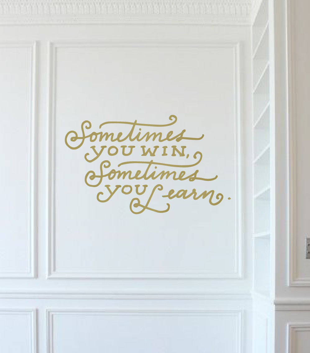 Inspirational Quote Wall Decal Sticker