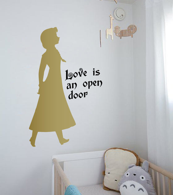 Frozen Quote Wall Decal Sticker