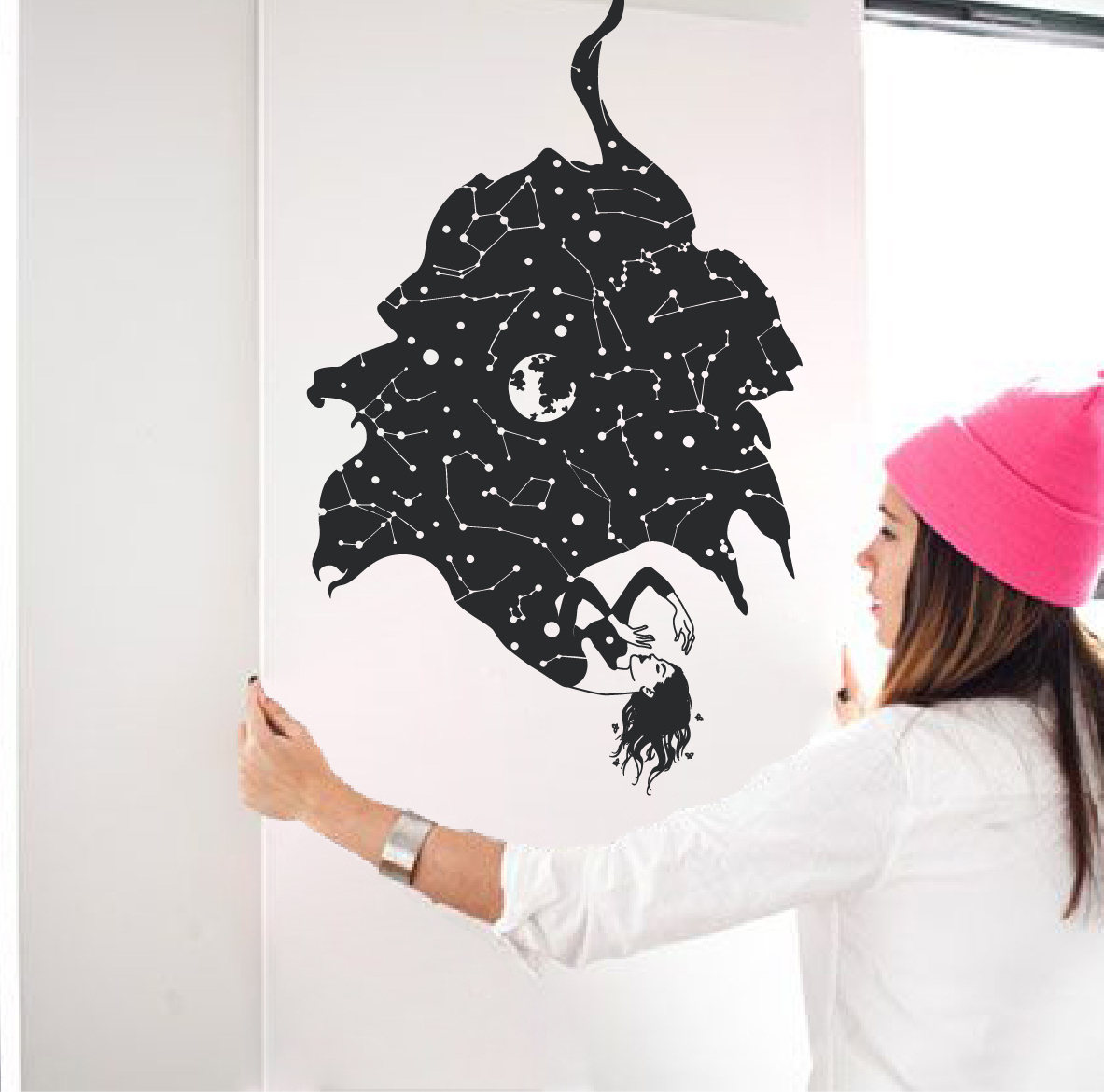 What to do when wall stickers wont stick the decal guru constellation quote wall decal sticker amipublicfo Choice Image