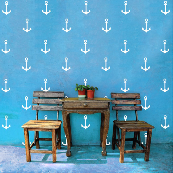 Anchors wall decals