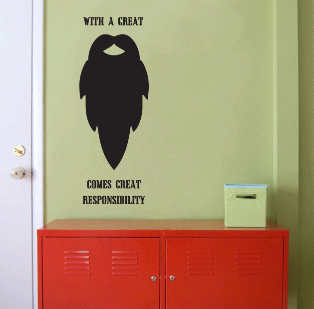 Beard Quote Wall Decal Sticker