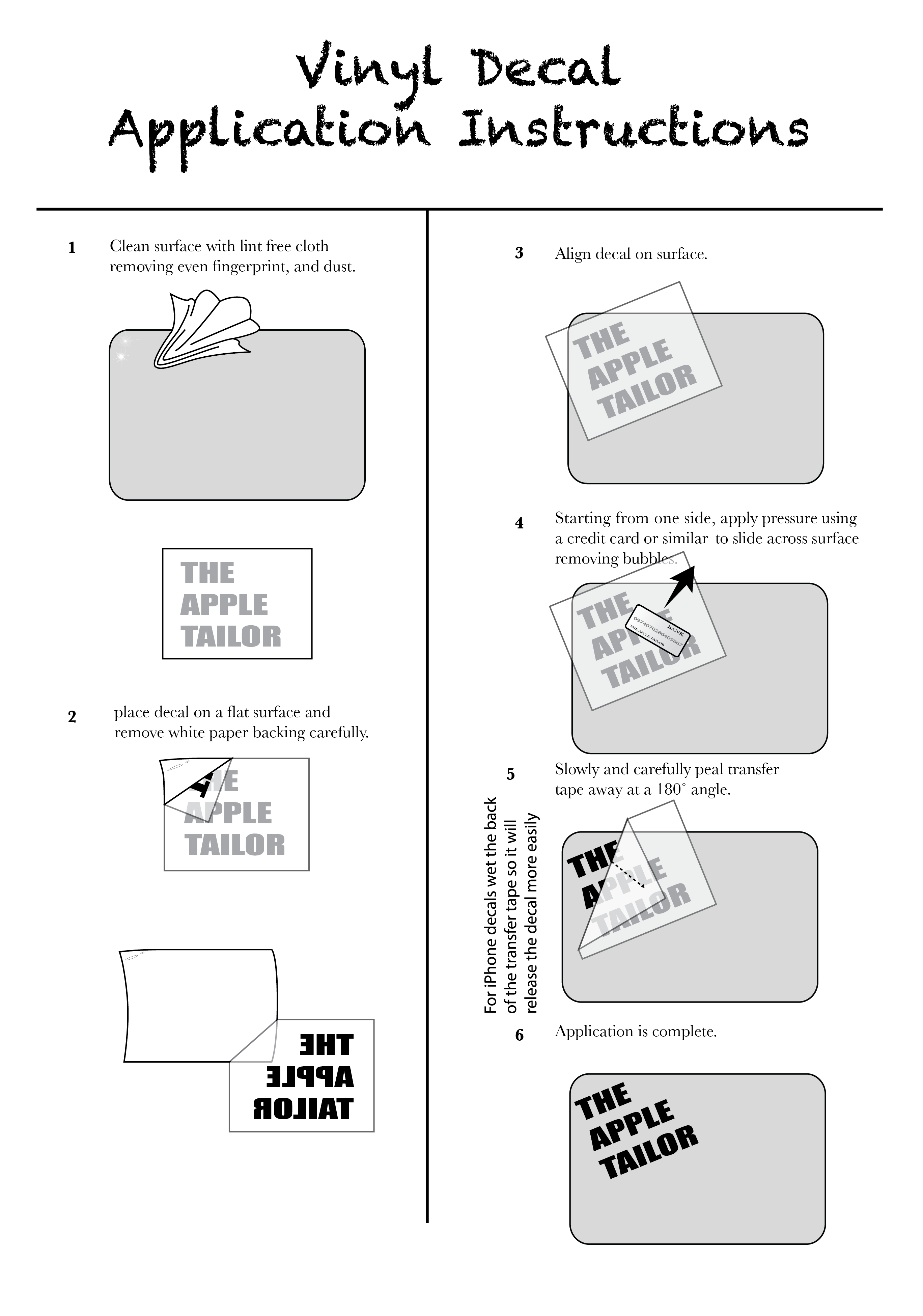 Old Fashioned image for decal application instructions printable