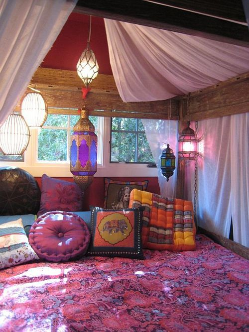 having an inner gypsy soul or a bohemian hiding within you is all about being creative artistic and eager to explore the world - Bohemian Bedroom Design