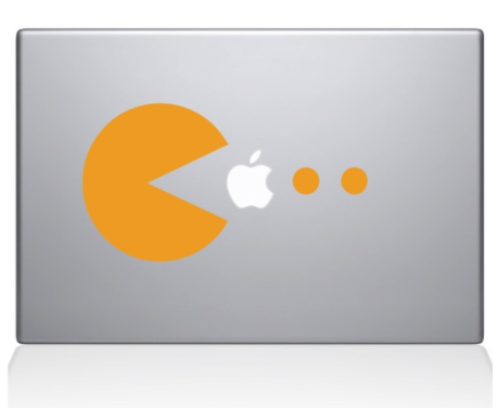 Pacman Mac Decal Sticker
