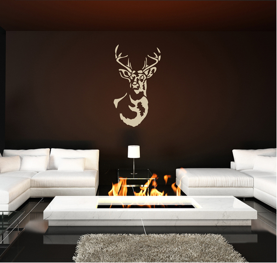 Deer Head Wall Decal Sticker
