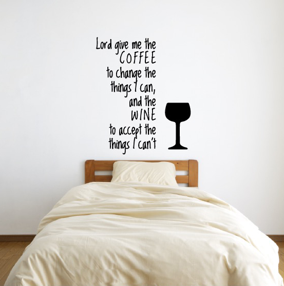 Coffee Quote Wall Decal Sticker