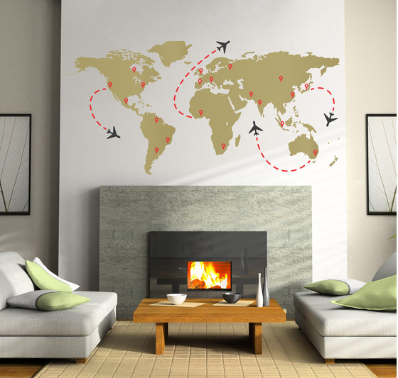 Travel Globe Wall Decal Sticker