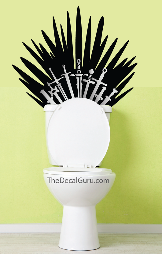 Games of Thrones toilet Wall Decal Sticker