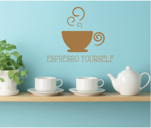 Espresso Kitchen Cafe Quote Wall Decal Sticker