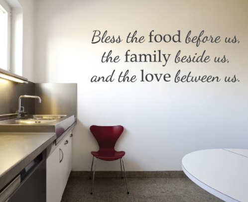Kitchen Blessed Quote Wall Decal Sticker