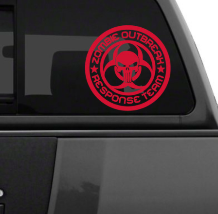 Zombie Reponse Team CarDecal Sticker