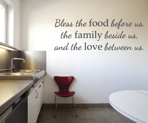 Kitchen Quote Wall Decal Sticker