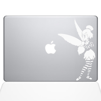 Tinker Bell Goth Macbook Decal Sticker White