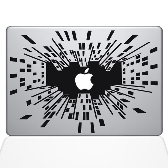 Looking Up in the Big City Macbook Decal Sticker Black
