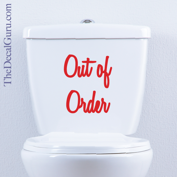 Out of order macbook decal the decal guru for Bathroom out of order
