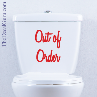 Out of order decal sticker