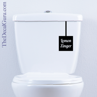 Toilet Tea Lemon Zinger decal sticker