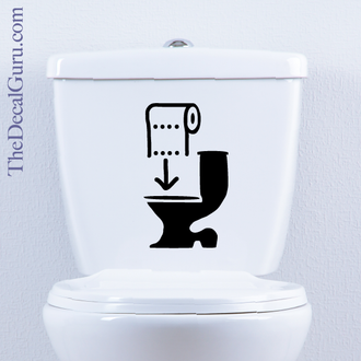 Toilet Paper Sign Toilet Decal