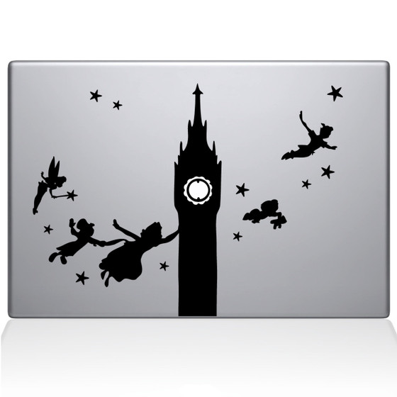 Peter pan macbook decal sticker black