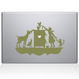 Children's Book Macbook Decal Sticker Gold