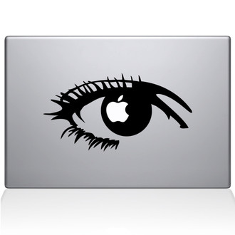 Apple of my eye Macbook Decal Sticker Black