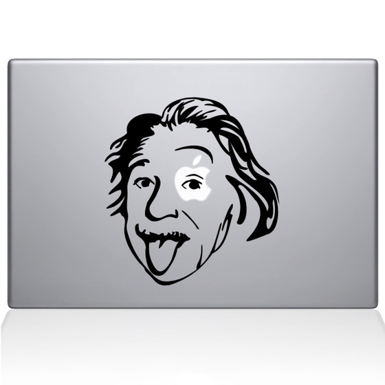 Einstein Macbook Decal Sticker Black