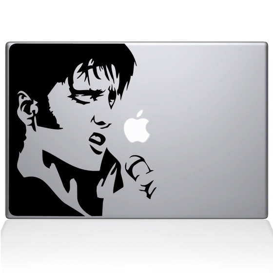 Elvis Macbook Decal Sticker Black