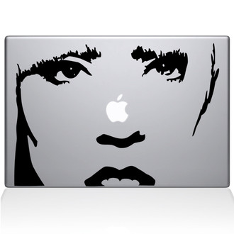 Lady Gaga Macbook Decal Sticker Black