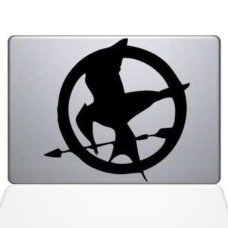 May The Odds Be Ever In Your Favor Macbook Decal Sticker Black