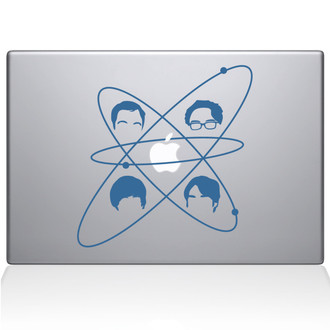 Big Bang Theory Macbook Decal Sticker Light Blue