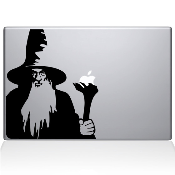 Gandalf the Grey Macbook Decal Sticker Black