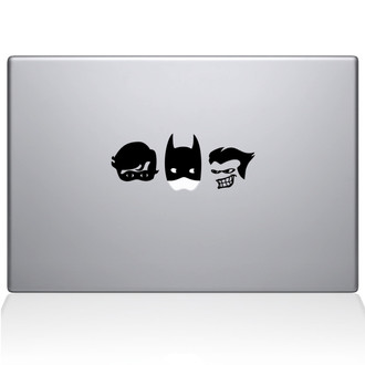 Batman and Robin Macbook Decal Sticker Black