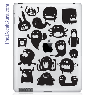 Monsters iPad Decal