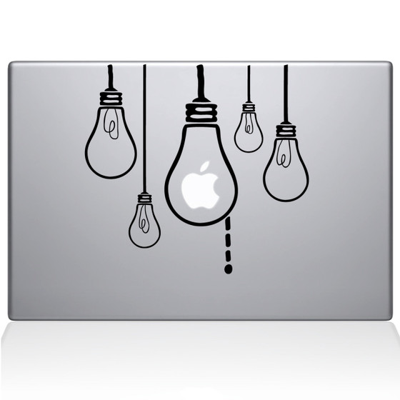 Idea Light Bulbs Macbook Decal Sticker Black