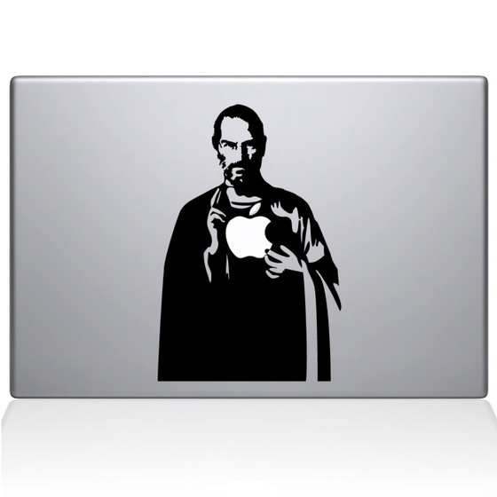 Jesus Jobs Macbook Decal Sticker Black