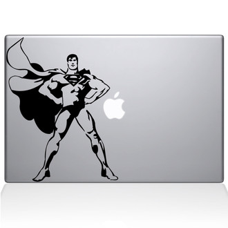 Superman Pose Macbook Decal Sticker Black