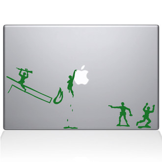 Army Men Macbook Decal Sticker Green