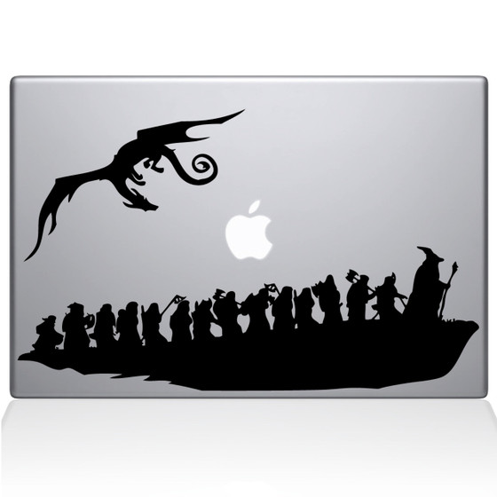 The Hobbit Macbook Decal Sticker Black