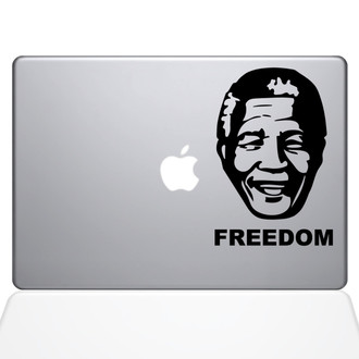 Mandela's Freedom Macbook Decal Sticker Black