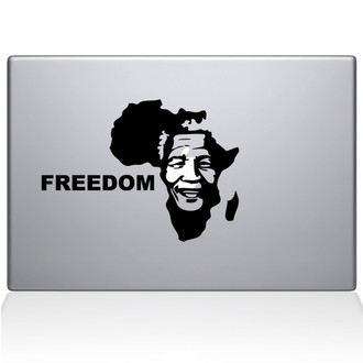 Mandela's Africa Macbook Decal Sticker Black