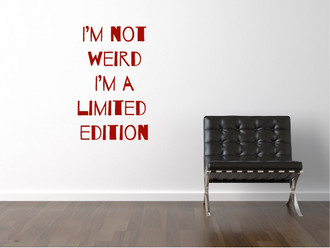 Limited Edition Wall Decal