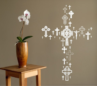 Cross Collection Wall Decal