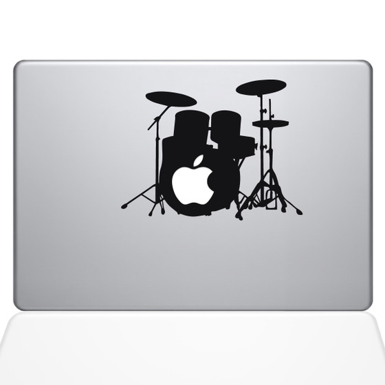 Star Drummer Macbook Decal Sticker Black