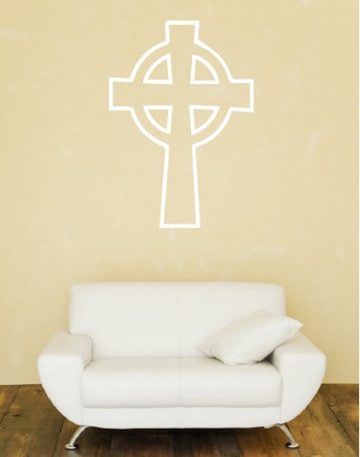 Celtic Eternity Cross Wall Decal