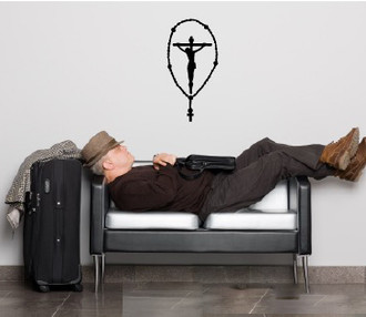 Rosary Crucifix Wall Decal