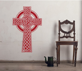 Celtic Knot Cross Wall Decal
