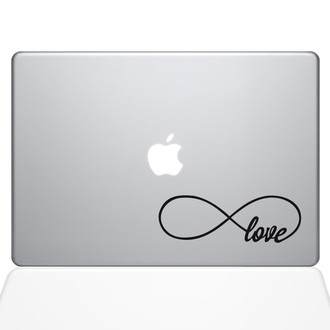 Infinite Love Macbook Decal Sticker Black