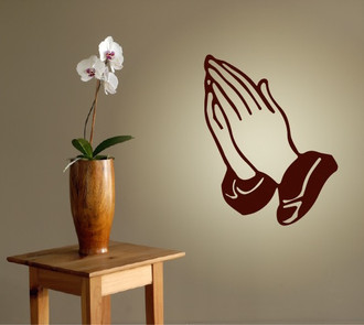 Prayer Hands Wall Decal