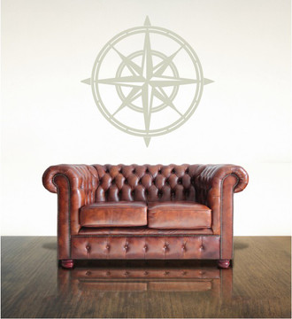 North Star Compass Wall Decal