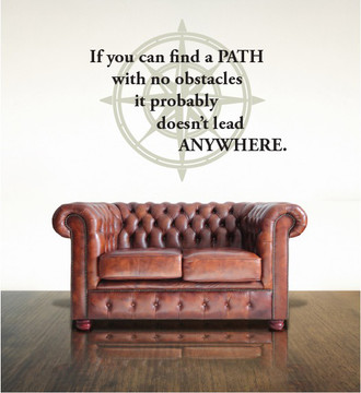 Compass Quote Wall Decal
